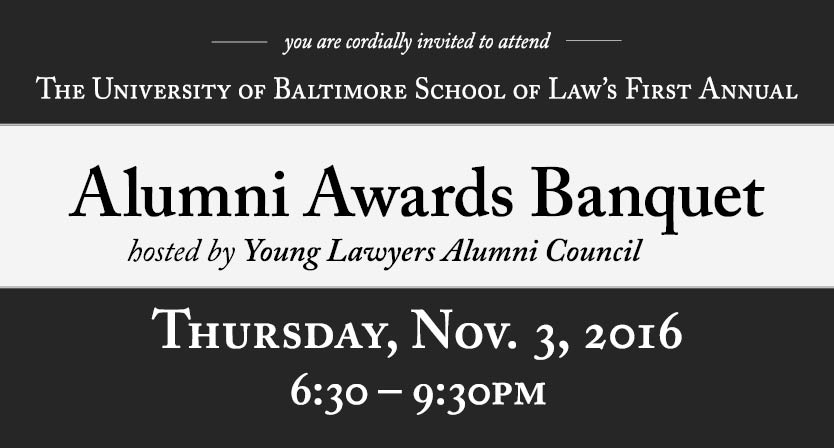 First Annual Alumni Awards Banquet on November 3